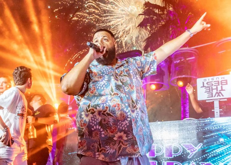 DJ Khaled performing at Thomas Henry's Birthday Party