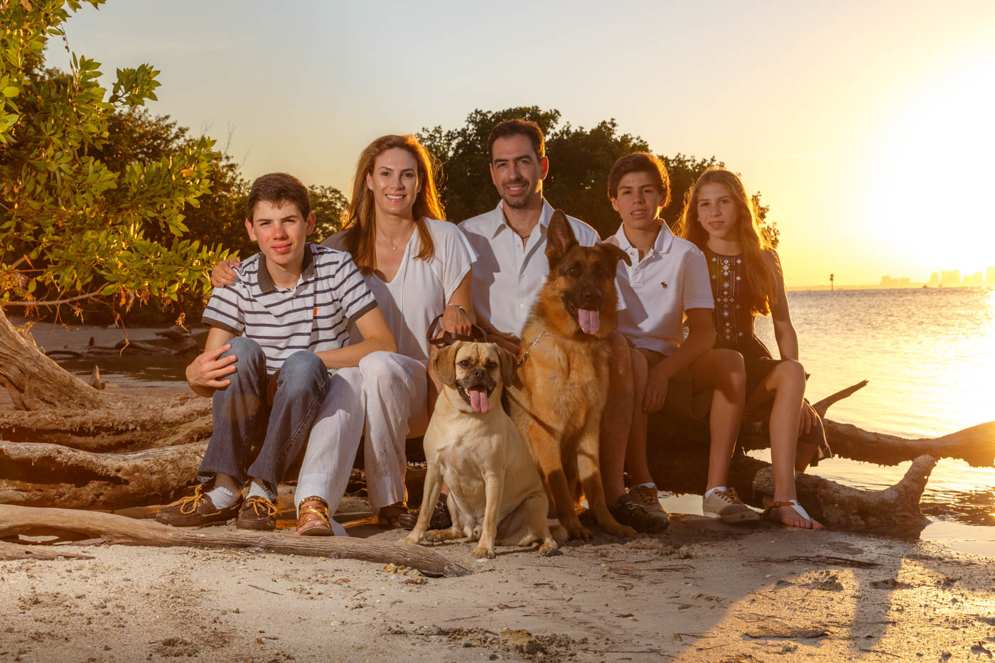 family portrait, Key Biscayne